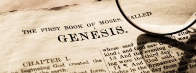 A segment of the first page of the Book of Genesis in the King James Bible.