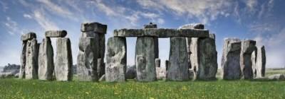 Stonehenge on a sunny day.